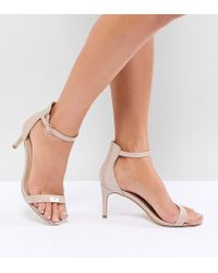 Truffle Collection - Mid Barely There Heeled Sandals - Lyst