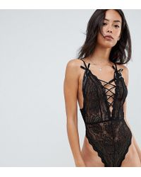ASOS - Asos Design Tall Blossom Plunge Lace Body - Lyst