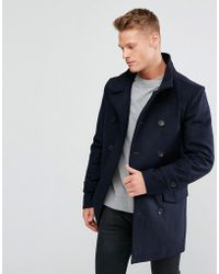 French Connection - Funnel Coat - Lyst