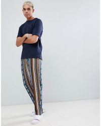ASOS DESIGN - Woven Straight Pyjama Bottoms In Aztec Print - Lyst