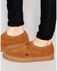 Farah - Form Lo Suede Creeper Shoe - Lyst