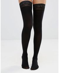 ASOS - 50 Denier Lace Top Hold Ups - Lyst