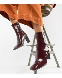 Bershka - Patent Ankle Boot - Lyst