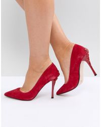 Dune - London Buds Pointed Court Shoe With Rose Heel - Lyst