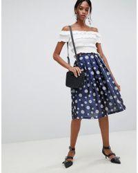 Liquorish - Polka Dot Pleated Prom Skirt - Lyst
