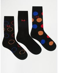 Pringle of Scotland - Lanark Polka Dot Socks In 3 Pack Black - Lyst