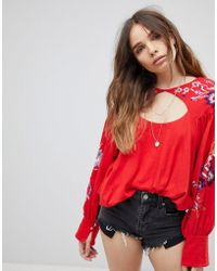 Free People - Lita Embroidered Blouse - Lyst