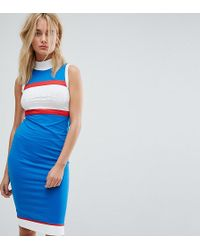 Le Coq Sportif - Exclusive To Asos High Neck Midi Dress - Lyst