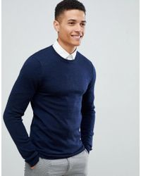 db5f15f0138d Fred Perry Jumper With Textured Knit in Brown for Men - Lyst