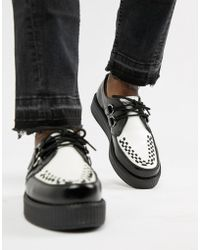 T.U.K. - D-ring Round Viva Leather Creepers - Lyst