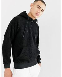 Only & Sons - Teddy Half Zip Hoodie - Lyst