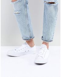 Converse - Chuck Taylor Ox Trainers In Triple White - Lyst