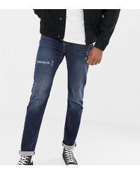 Jacamo - Tall Skinny Fit Jeans In Crosshatch - Lyst