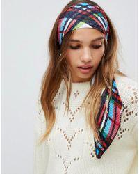 ASOS - Check Headscarf - Lyst