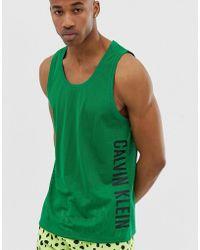 Calvin Klein - Camiseta verde de malla sin mangas Intense Power Plus - Lyst