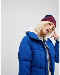 Monki - Radical Chic Slogan Beanie Hat - Lyst