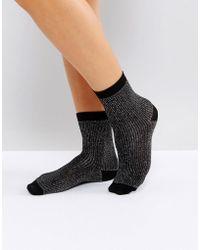 Monki - Metallic Socks - Lyst