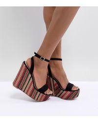 ASOS - Design Tropics High Sandal Wedges - Lyst
