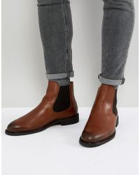 SELECTED - Leather Chelsea Boots - Lyst