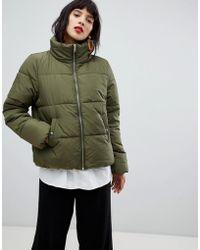 Pieces - Padded Coat - Lyst