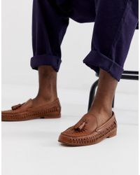 KG by Kurt Geiger Kg By Kurt Geiger Woven Shoes In Tan Leather With Tassel