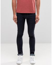 Religion - Skinny Fit Hero Jeans In Dark Blue - Lyst