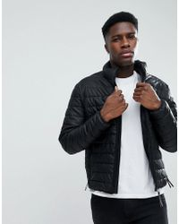 Esprit - Faux Leather Quilted Jacket - Lyst