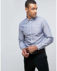 Mango - Man Oxford Shirt In Blue - Lyst