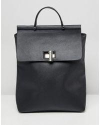 ASOS - Oversize Twistlock Pinch Top Backpack - Lyst