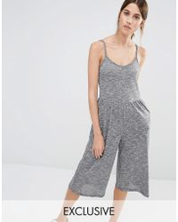 Stitch & Pieces - Culotte Jumpsuit - Lyst
