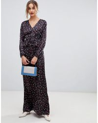 355ba3a69d Lost Ink - Maxi Dress With Ruffle Waist In Ditsy Print - Lyst