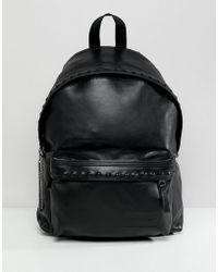 Eastpak - Padded Pak'r In Leather With Studs 24l - Lyst