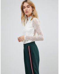 First & I - Lace Top - Lyst