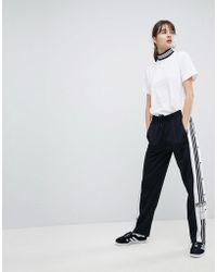 adidas Originals - Originals Adicolor Popper Trousers In Black - Lyst