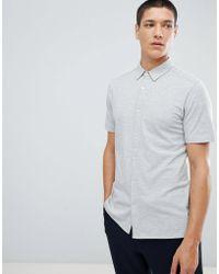 For Love & Lemons - Short Sleeve Jersey Shirt In Gray - Lyst