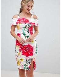 Coast - Rose Bloom Print Pencil Dress - Lyst