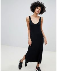 Mango - Jersey Maxi Dress In Black - Lyst