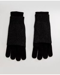 AllSaints - Yukon Gloves In Merino Wool Blend - Lyst