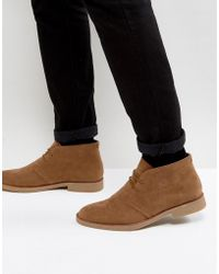 New Look - Faux Suede Desert Boots In Tan - Lyst