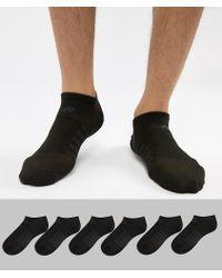 New Balance - 6 Pack No Show Socks In Black N4010-032-6eu Blk - Lyst