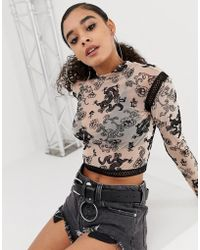 3604f39d86 Jaded London Bralette With Extreme Crop Top in Metallic - Lyst