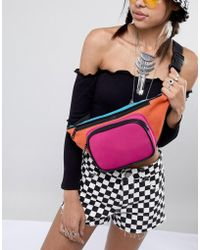 ASOS - Design Oversized Color Block Scuba Fanny Pack - Lyst