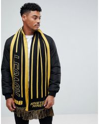 New Look - Scarf With Legacy In Black And Yellow - Lyst