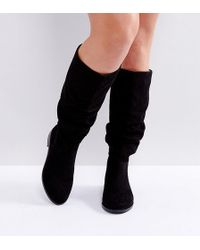 1f984482169 ASOS - Asos Capital Wide Fit Slouch Knee Boots - Lyst