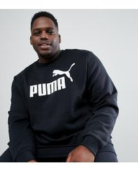 PUMA - Plus Essentials Sweat In Black 85174701 - Lyst