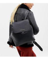 Valentino By Mario Valentino - Minimal Foldover Backpack In Black - Lyst