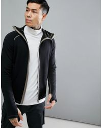 66o North | Vik Hooded Lightweight Mid Layer Jacket In Black | Lyst