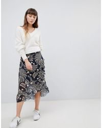 Soaked In Luxury - Print Wrap Ruffle Skirt - Lyst