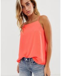 ASOS - Cami With Square Neck In Neon - Lyst