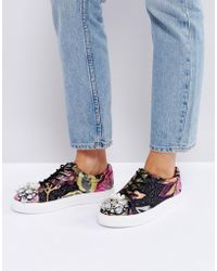 ASOS DESIGN - Asos Dream On Embellished Sneakers - Lyst